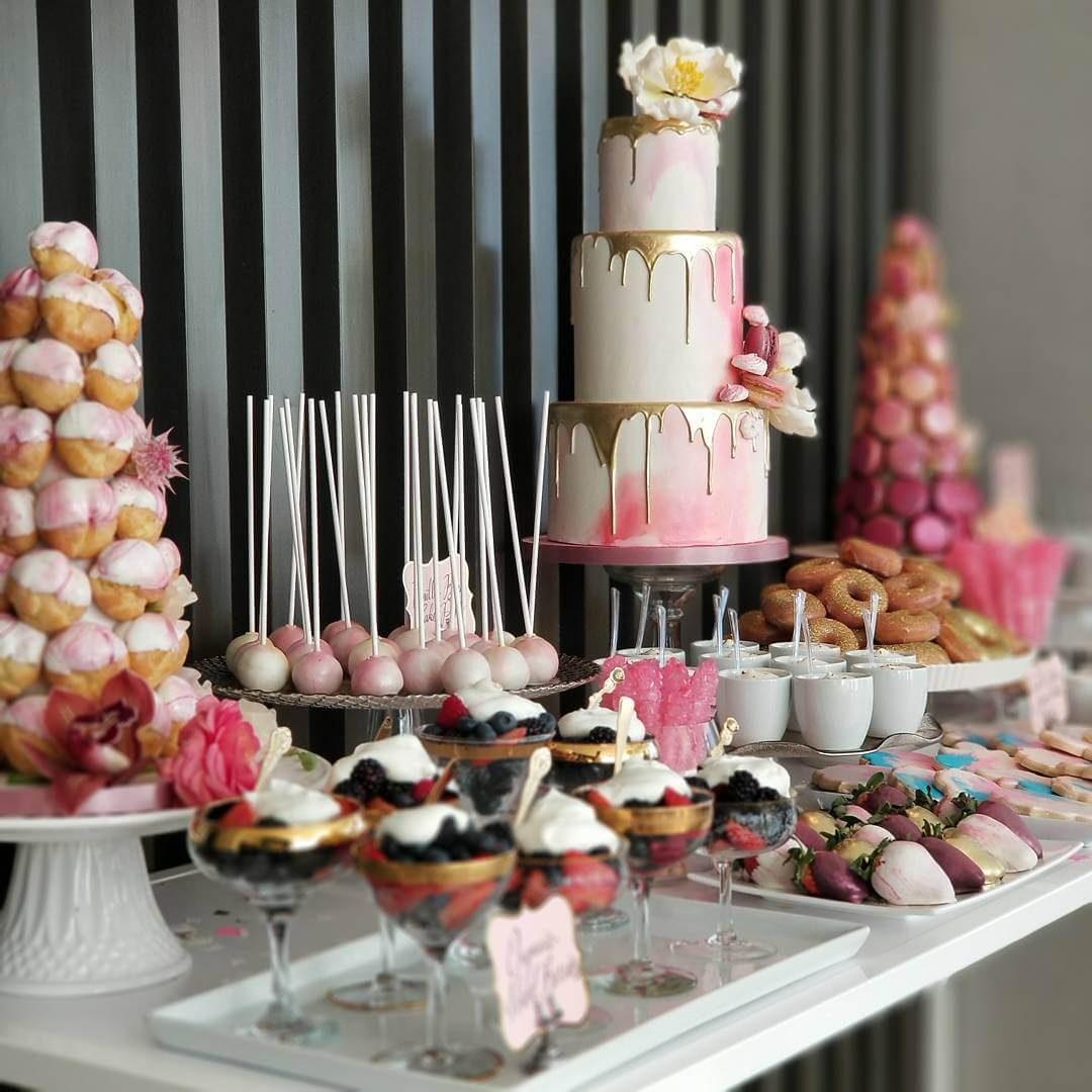 French wedding cake table