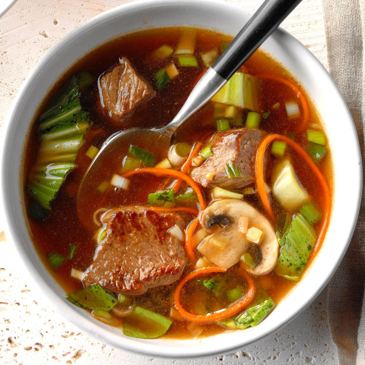 Asian Vegetable-Beef Soup Recipe