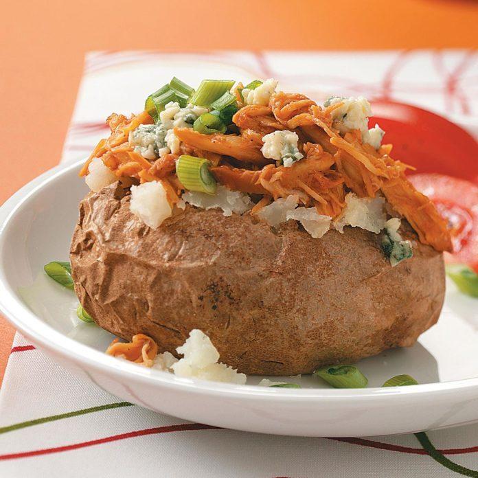 BBQ Chicken Baked Potatoes