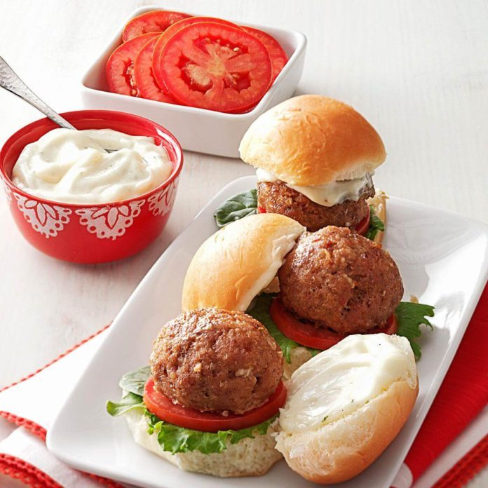 BLT Meatball Sliders