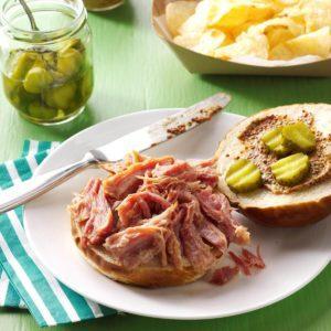 Beer-Braised Pulled Ham