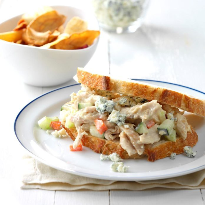 Day 6 Lunch: Blue Cheese Chicken Salad Sandwiches