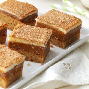 Caramel Snickerdoodle Bars