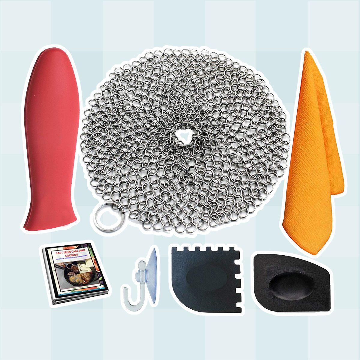 Chainmail Cast-Iron Scrubber