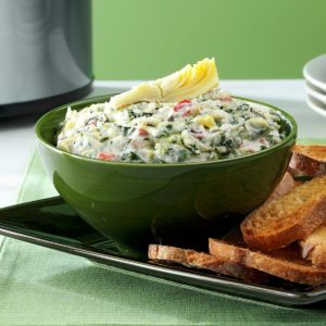 Cheese-Trio Artichoke & Spinach Dip