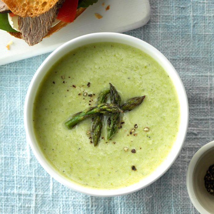 Cheesy Cream of Asparagus Soup