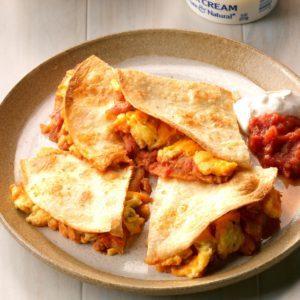 Cheesy Egg Quesadillas