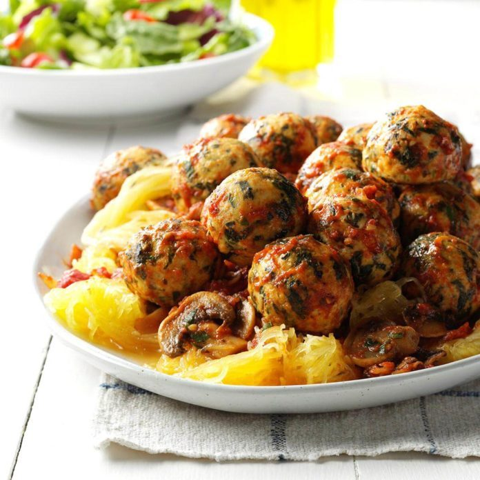 Chicken Florentine Meatballs