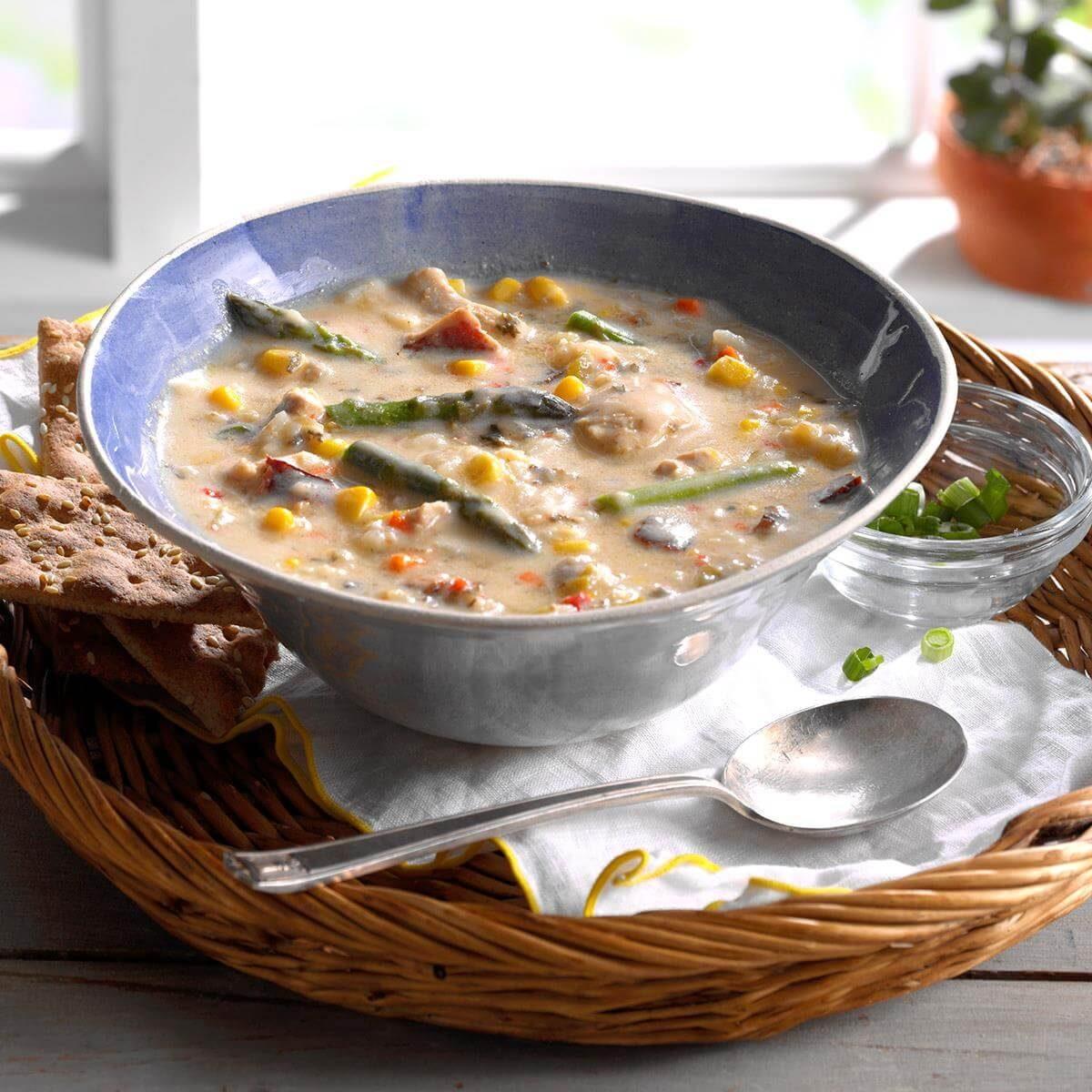 Chicken & Vegetable Wild Rice Soup Recipe