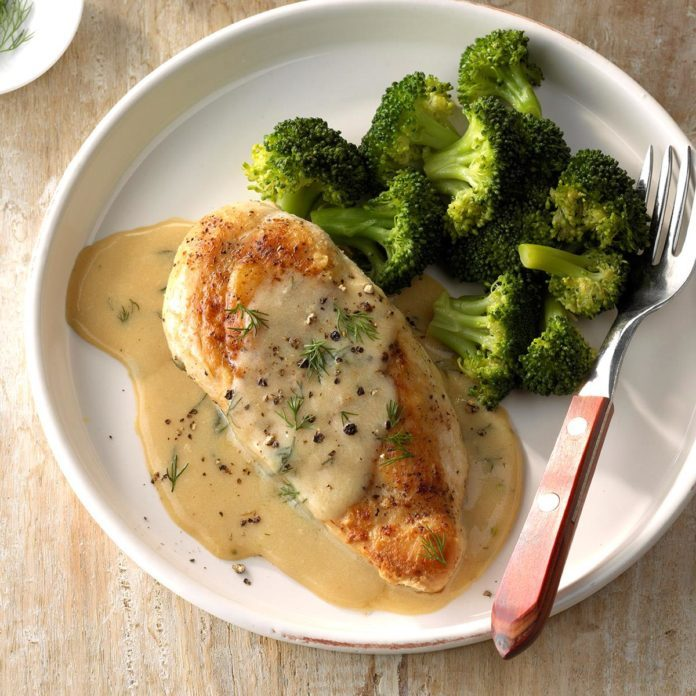 Chicken and Broccoli with Dill Sauce