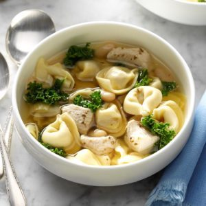 Chicken and Kale Tortellini Soup