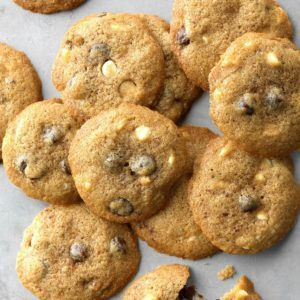 Cinnamon White & Dark Chocolate Chip Cookies
