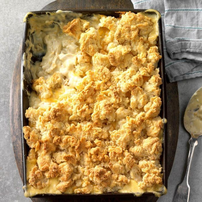 Creamy Green Chili Chicken Cobbler