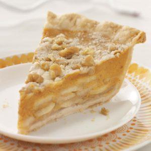 Crumb-Topped Apple & Pumpkin Pie