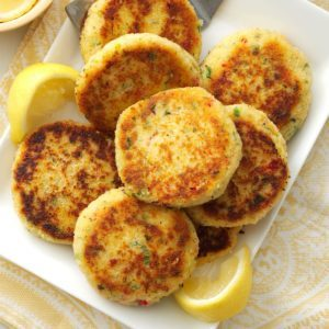 Healthy mardi gras recipes taste of home easy crab cakes forumfinder Gallery