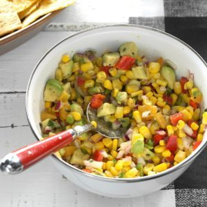 Fresh Corn & Avocado Dip