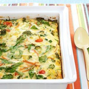 Garden Veggie Egg Bake