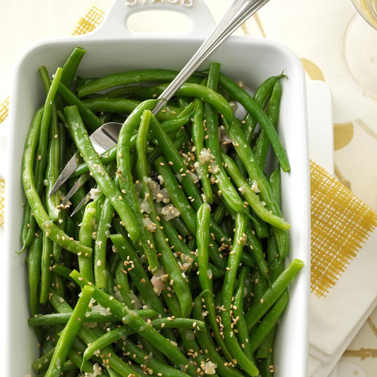 Garlic-Sesame Green Beans Recipe