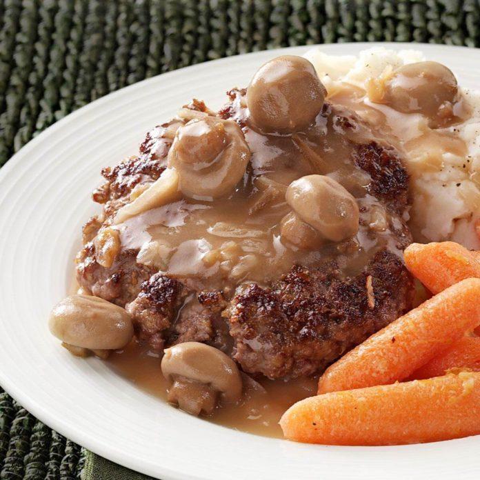 Hamburger Steaks with Mushroom Gravy