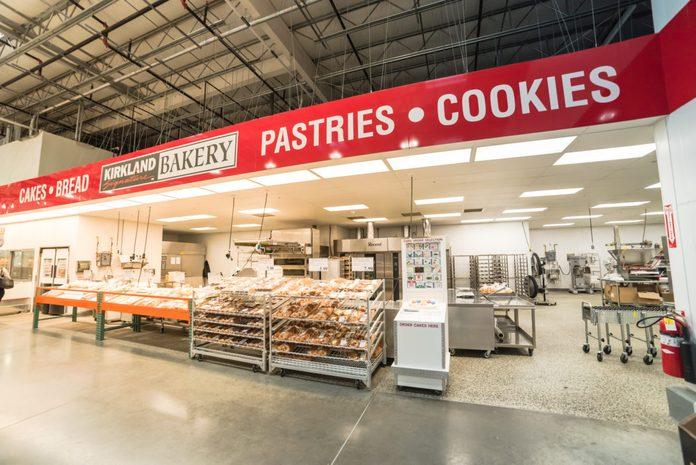 costco bakery inside a costco store
