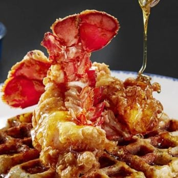 Red Lobster Debuts Lobster and Waffles Made from Their Cheddar Bay Biscuits