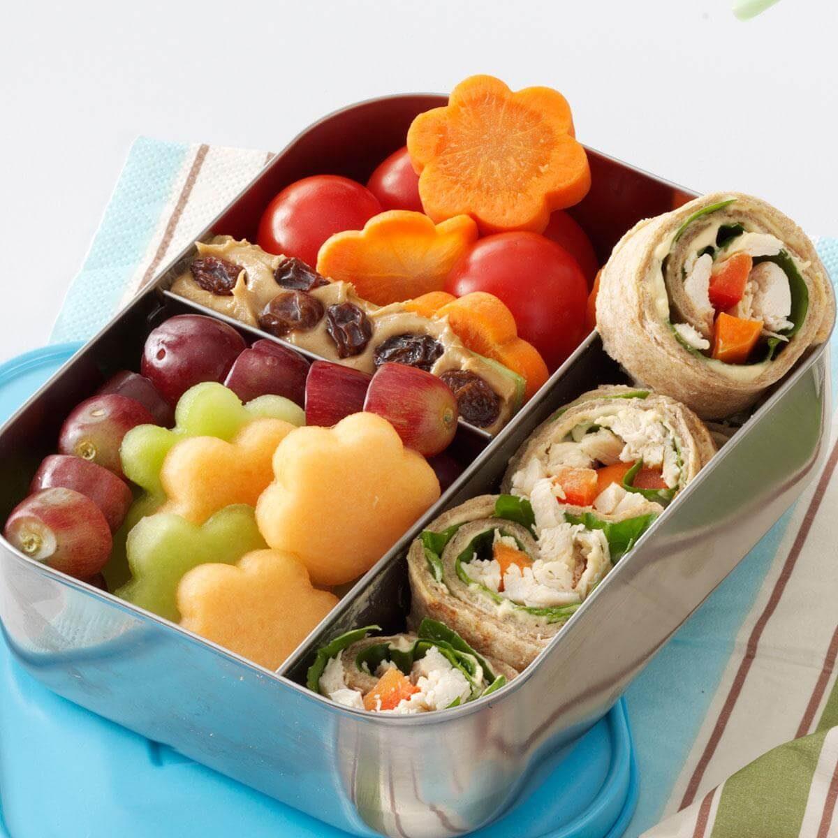 Easy School Lunch Ideas-Lunch box wrap
