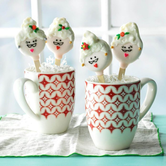 Mrs. Claus Cookie Pops