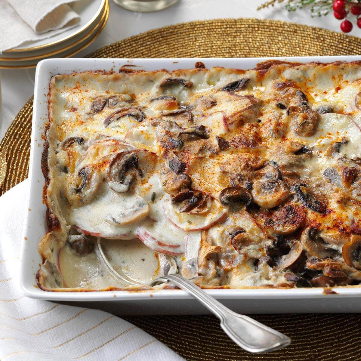 Mushroom-Gruyere Scalloped Potatoes Recipe