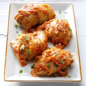 New-World Stuffed Cabbage
