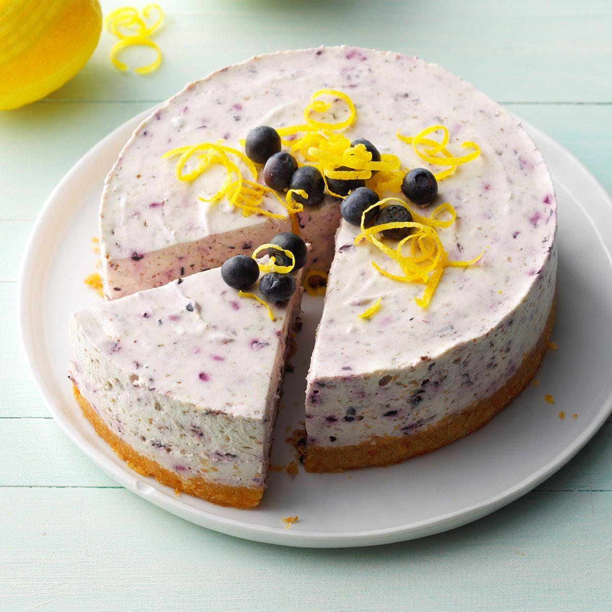 No Bake Blueberry Cheesecake Recipe Taste Of Home