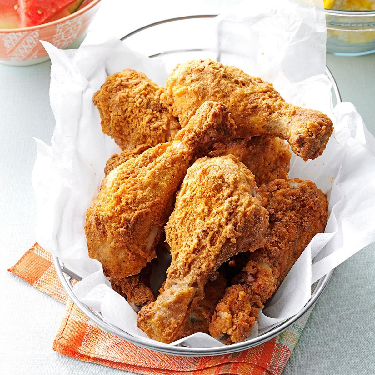 oven fried chicken drumsticks recipe taste of home. Black Bedroom Furniture Sets. Home Design Ideas