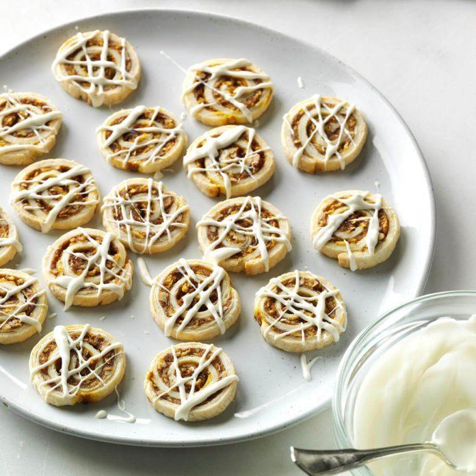 Pecan Pumpkin Pie Pinwheels