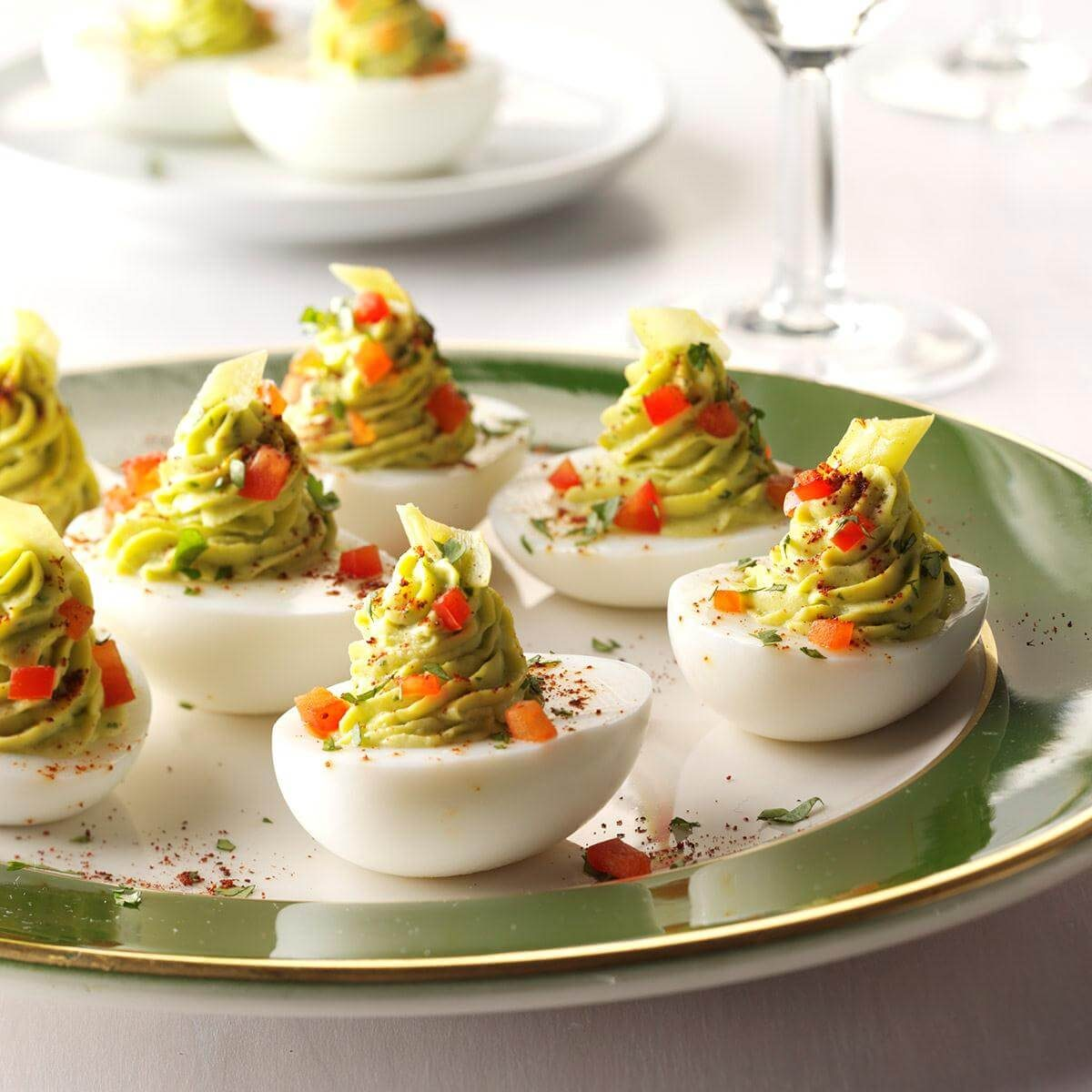 Pickled Pepperoncini Deviled Eggs Recipe Taste Of Home