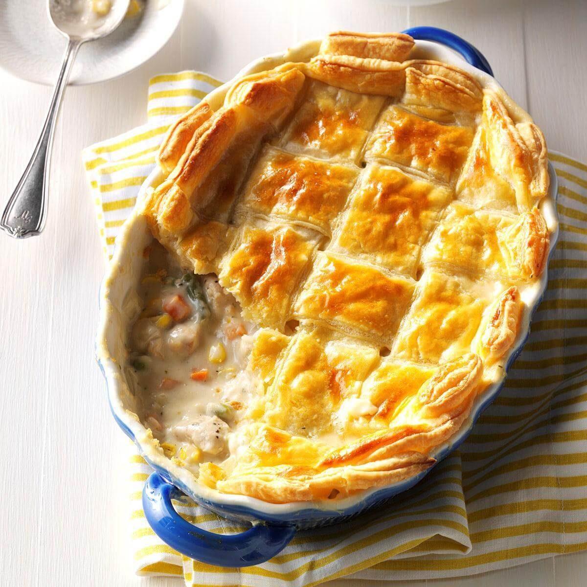 Puff Pastry Chicken Potpie Recipe Taste Of Home