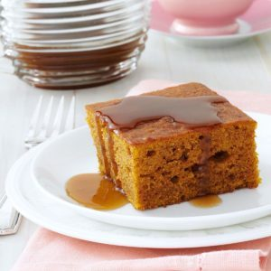 Pumpkin Cake with Caramel Sauce