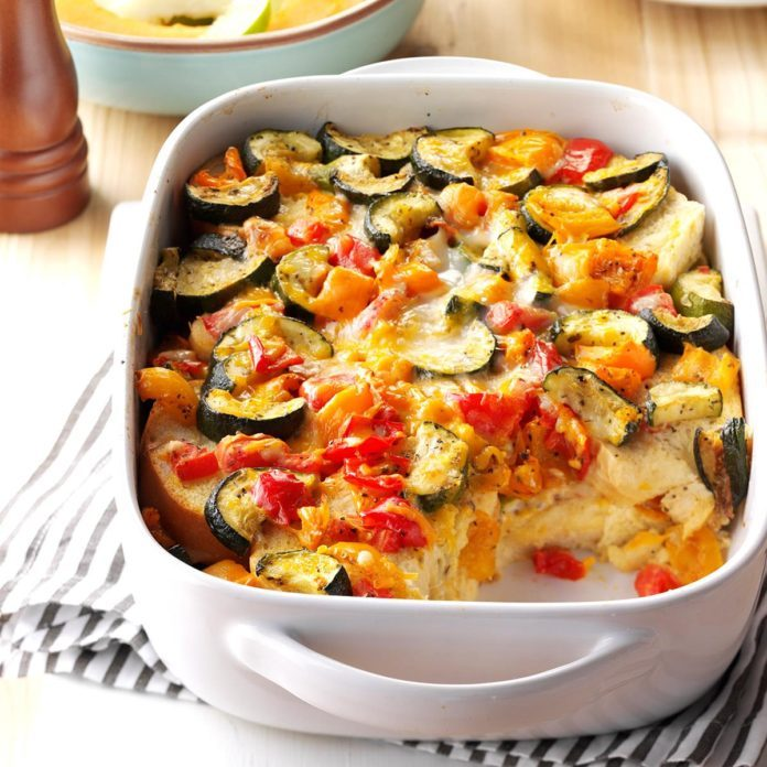 Day 2: Roasted Vegetable Strata