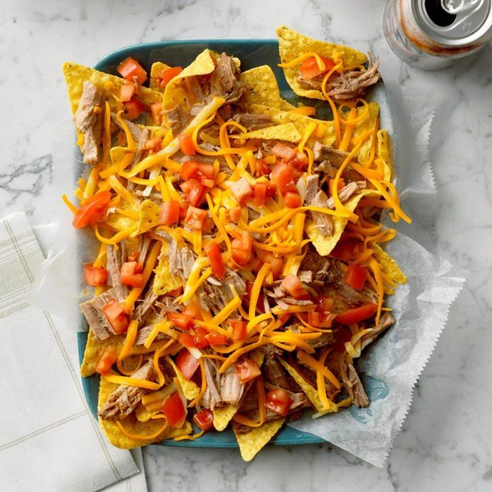Root Beer Pulled Pork Nachos
