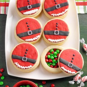 Santa's Stuffed Belly Cookies