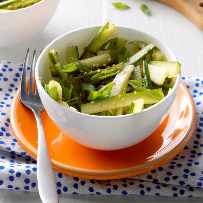 Sesame-Ginger Cucumber Salad