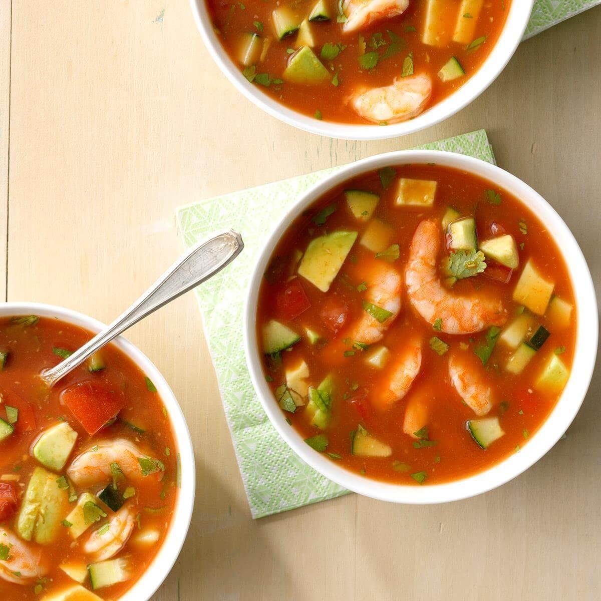Shrimp Gazpacho Recipe Taste Of Home