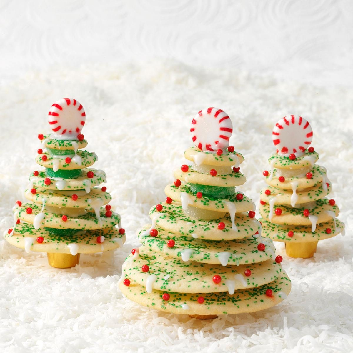Stacked Christmas Tree Cookies Recipe | Taste of Home