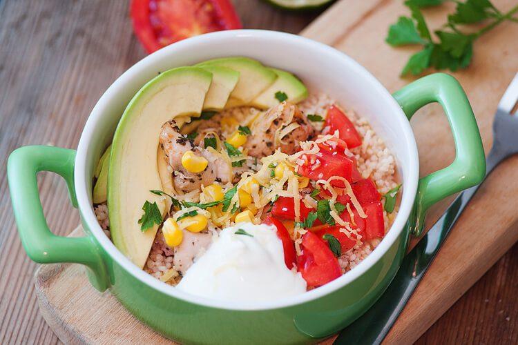 Tex mex quinoa bowl