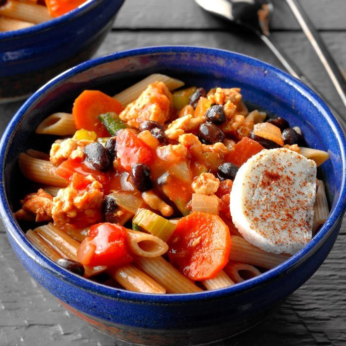 Turkey Chili with Penne