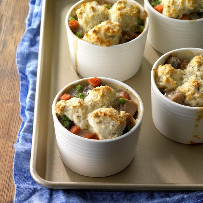 Turkey and Mushroom Potpies