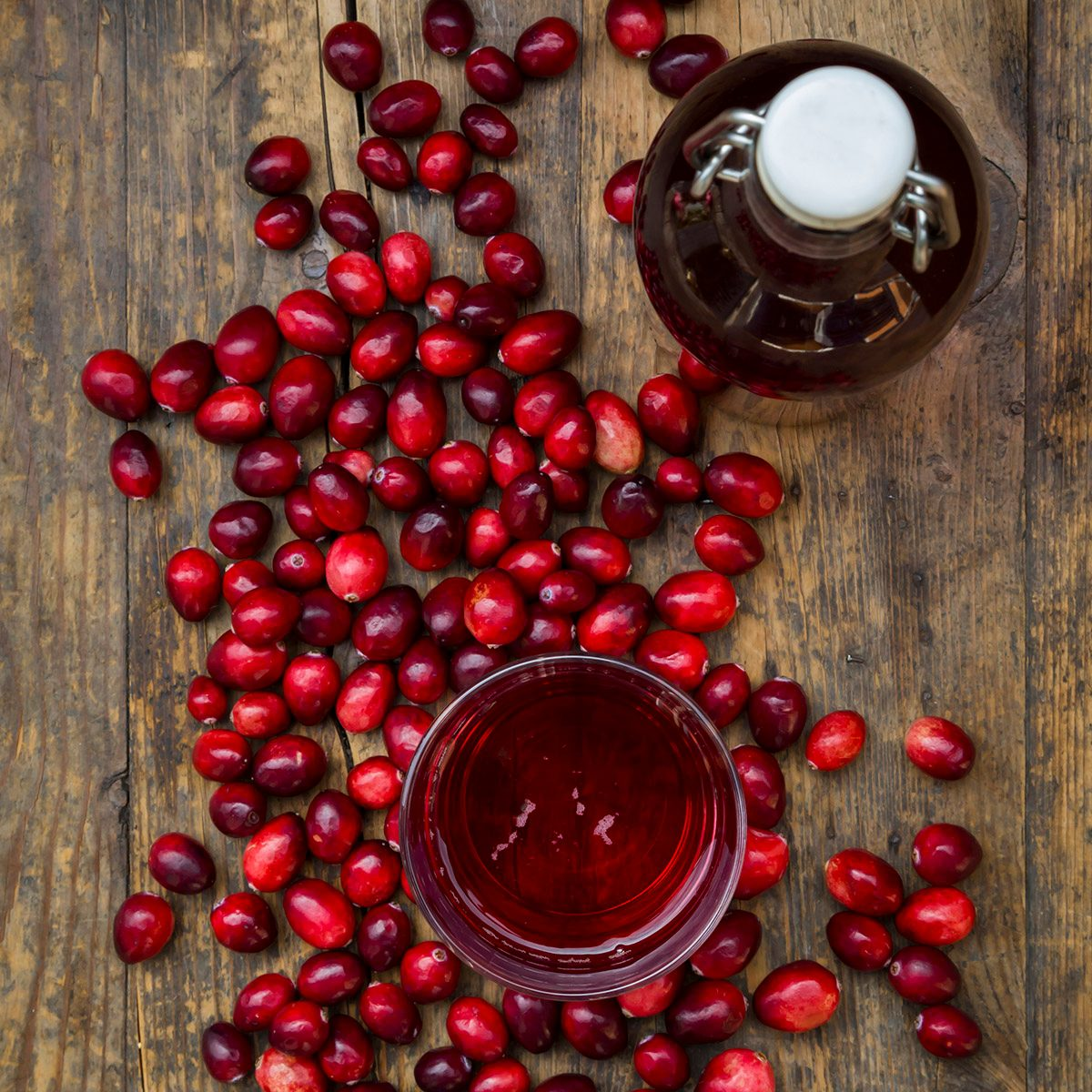 Deutschland, Studio, Cranberry-Saft und Cranberries