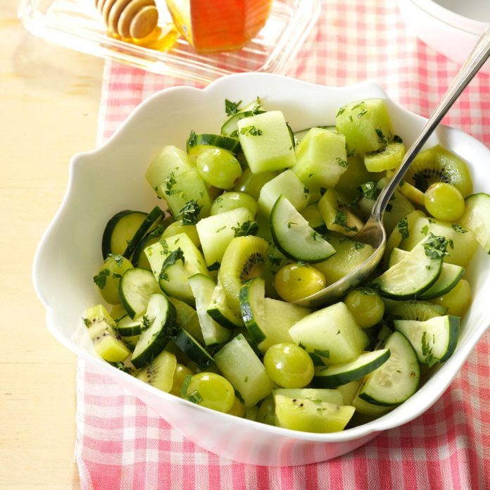 Honeydew Salad with Lime Dressing
