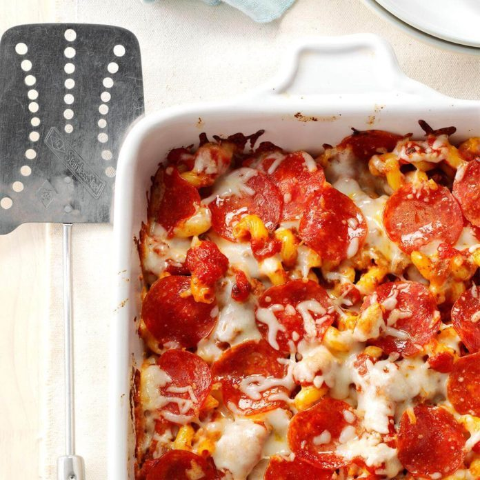 Pizza Pasta Casserole Recipe Taste Of Home