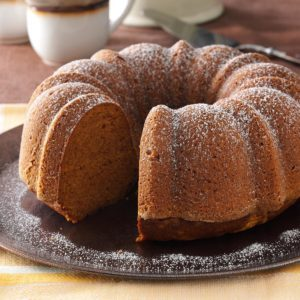 Moist Pumpkin Tube Cake