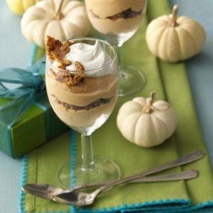 Frozen Pumpkin Mousse Parfaits