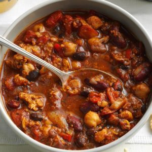 Marty's Bean Burger Chili